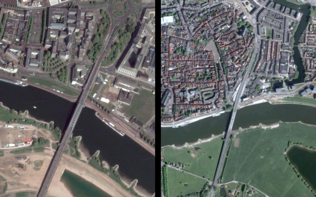 Past perfect: links de John Frostbrug in Arnhem, rechts de Wilhelminabrug te Deventer.